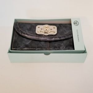 Kathy Van Zeeland Patent Leather Clutch in Box